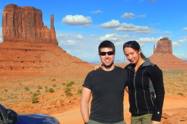 The happy couple in Monument Valley. Bob