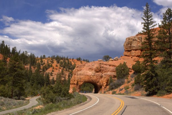 A tunnel in Red Canyon.