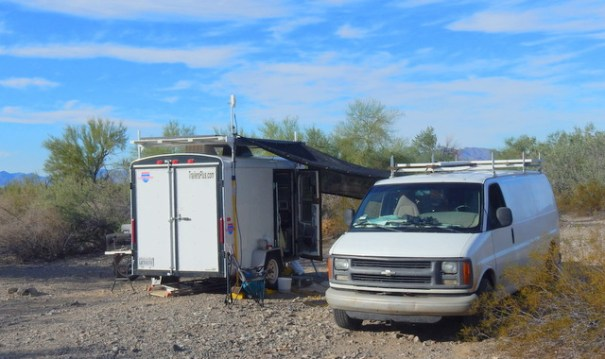 Our November camp in Quartzsite. As you can see, it's amazingly green and full of trees.