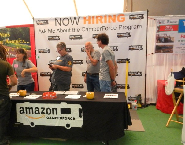 At the show there will be many vendors hiring for the coming year, including Amazon.