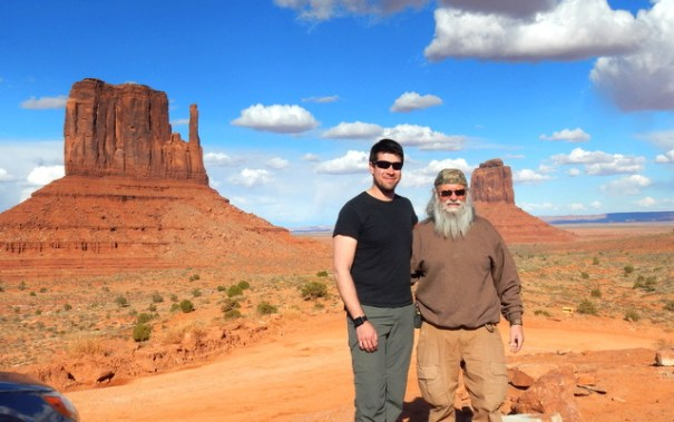 My son Robert and I in Monument Valley.