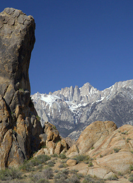 That's Mt Whitney sent against a monolith.
