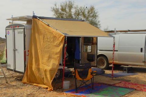 This is my ARB awning deployed off my trailer. So far, I love it!!