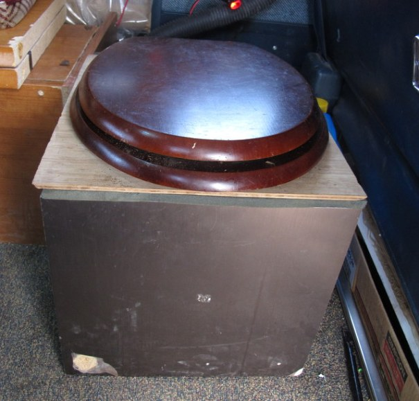 For the composting toilet he built a simple box out of plywood and went to Home Depot and bought a standard homeowners toilet seat. It's simply bolted onto the lif of the box. You can make one of these even if you aren't making a composting toilet.