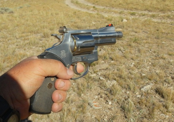 The movies make shooting a handgun look simple--it isn't!! The thing is surprisingly heavy, the trigger is hard to pull, then it's going to explode in your hand, try to jerk back in your face, and belch fire.  For some people it's fun, for most it isn't.