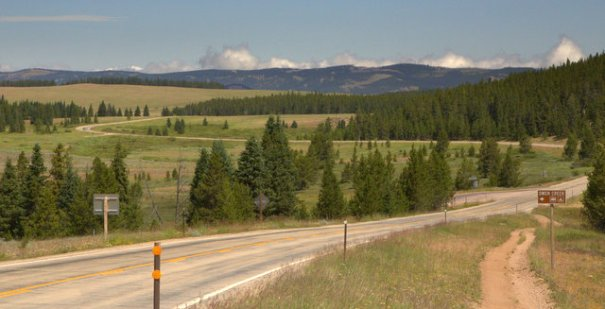 The northern part of the Bighorn National Forest is just a high plateau with a nice forest in it. The mountains are really just rolling hills as you can see in this shot.