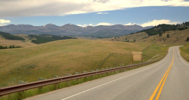 Another typocal shot of the rolling hills in the narthern part of the Bighorn NF along Medicine Wheel Scenic Byway.
