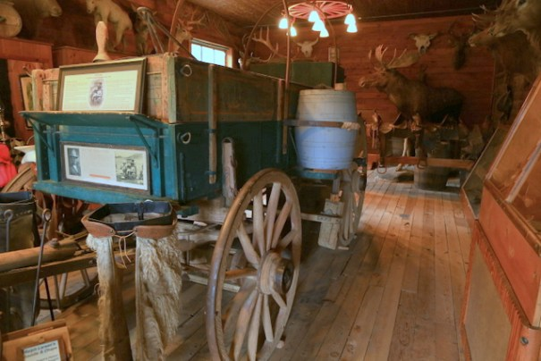 "This is an authentic ""chuck wagon"" used on trail drives in the 1890s."
