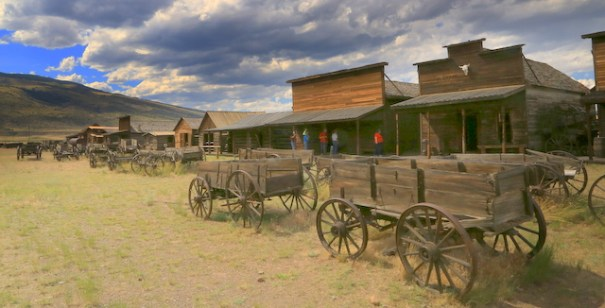 Man Street, Old Trail Town in Cody, Wyoming