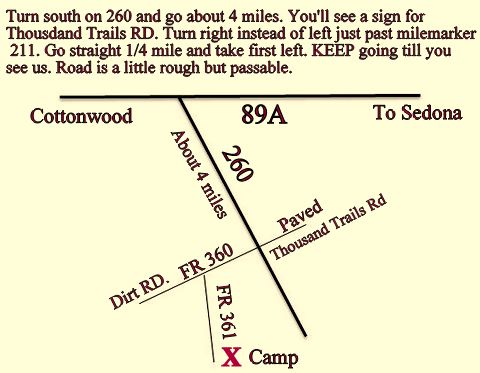 A map to our camp.
