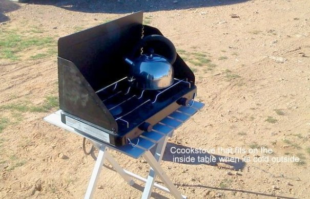 Fred-Cookstove and outside table