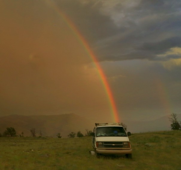 Rainbow at Gardiner camp.
