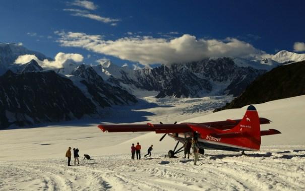 The Glacier landing.