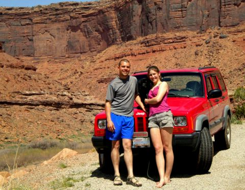 At the start of our 2010 road trip. Colorado River near Moab, UT