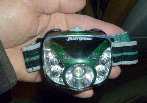 I've been using this Energizer headlamp for 4 years and I love it. The latest version has two buttons.