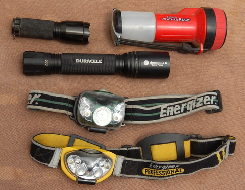 These are flashlights I carry. Each excels at a  function better than any of the others.