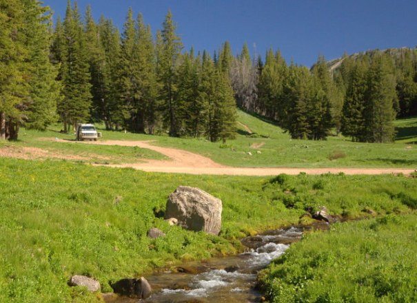 Smith River camp, Wyoming