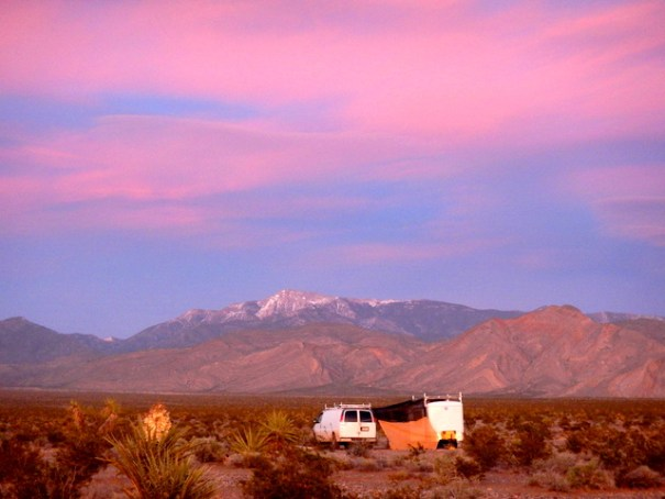 Like all of the desert Southwest, my camp in Pahrump had spectacular sunsets.