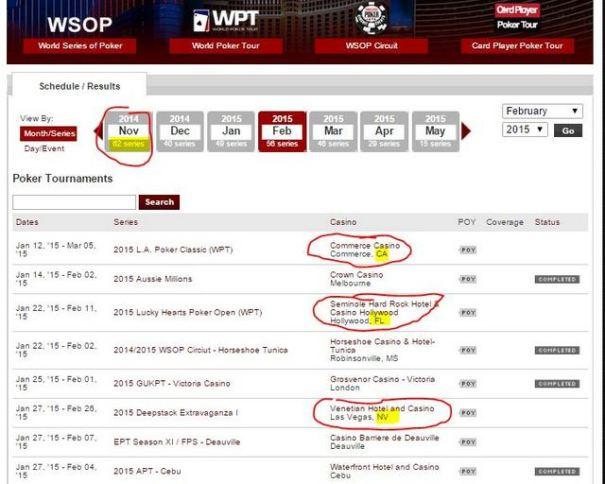 Poker-Schedule
