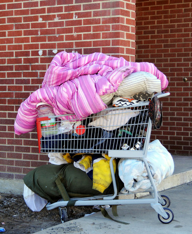 ...or a life like this lived out of a shopping cart?