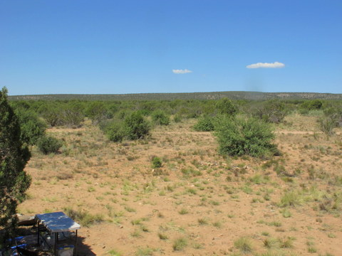 This shot is from the ladder South.  As you can see it is pretty plain. Probably 200 degrees of the view is this plain.