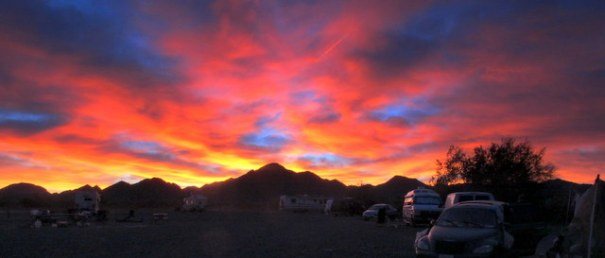The sunrise and sunsets in Quartzsite are often amazingly mind-blowing!