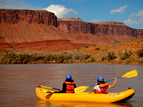 Here is the couple who took over the kayak after me. Their doing just what I did, being awestruck by the scenery!