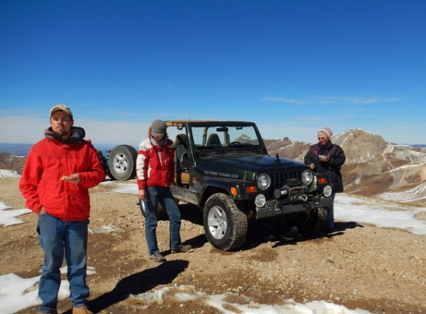 Forrest, Beth and Judy at 12, 900 feet in the Colorado  Rockies. That day will go down as one of my best ever!