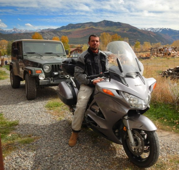 Forrest is hoping to lead motorcycle tours of the beautiful area they live in.