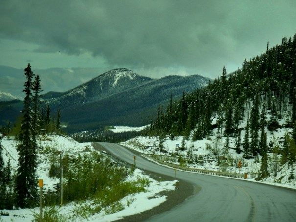 Going to Alaska in June doesn't mean you won't run into snow!