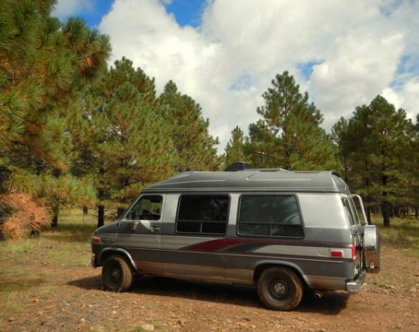My friend Sameers van in the Coconino NF.