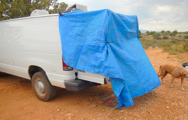 Your van came with a shower, and you didn't even know it!