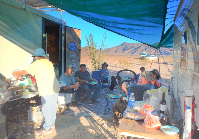 On the left is the grill and you can see some of the great food out on the right. An amazing time was had by all!