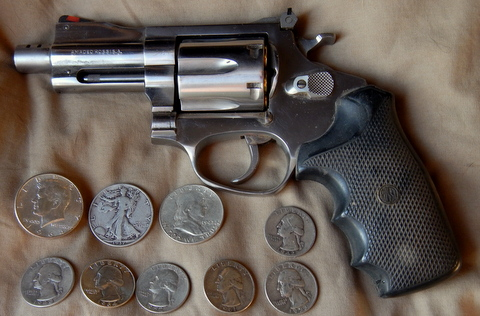 Two things I recommend to defend your food and to buy more: 1) a gun 2) pre-1964 coins like dimes half-dollars and quarters.  They were .715 percent silver, so $1.50 face value is slightly more than an ounce of silver. So this is two ounces of silver which is about $22 an ounce now .so it's worth $44. The silver value makes it inflation-proof and it's small size and safety makes it easily bartered or sold.