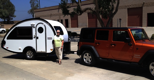 Sharon With Her New Tb Trailer And Beautiful 4 Door Jeep