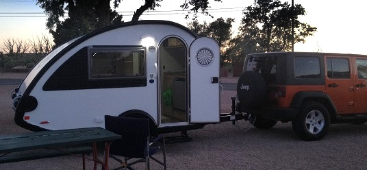 What a great life! Set-up camp, go explore in the Jeep!