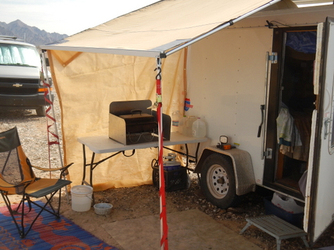 When it is hot, being able to sit outside in the shade is priceless. this is my ARB awning that only cost $250. I'll do a full report on it next week.
