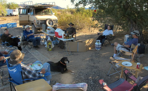 Steve and my first  Thanksgiving dinner in 2012. I think there were about 14 of is there that day.