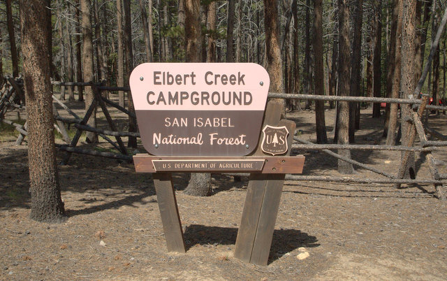 Tis was my campground right below Mount Elbert.