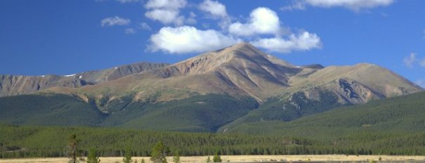 This is the view of Mt. Elbert I saw every time i went into or away from camp. My campground was at the base of its right flank. Imagine seeing this on every trip to and from work!
