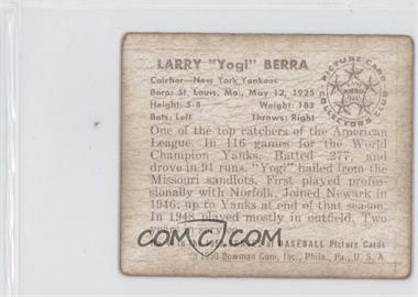 1950 Bowman #46 - Yogi Berra REPRODUCTION - Courtesy of CheckOutMyCards.com