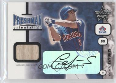2001 Leaf Rookies and Stars Freshman Orientation Autographs #FO14 - Cesar Izturis Bat/100 - Courtesy of CheckOutMyCards.com