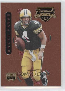 1996 Playoff Contenders Leather #1 - Brett Favre R - Courtesy of CheckOutMyCards.com