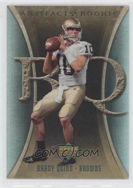 2007 Artifacts #158 - Brady Quinn RC (Rookie Card) - Courtesy of CheckOutMyCards.com