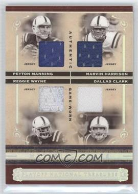 2006 Playoff National Treasures Material Quads #MHWC - Peyton Manning Marvin Harrison Reggie Wayne Dallas Clark/25 - Courtesy of CheckOutMyCards.com