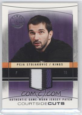 2003-04 Flair Final Edition Courtside Cuts Patches Platinum #PS - Peja Stojakovic/55 - Courtesy of CheckOutMyCards.com