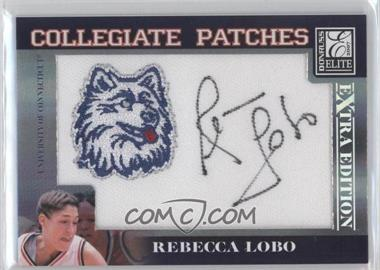 2007 Donruss Elite Extra Edition Collegiate Patches #14 - Rebecca Lobo/250 - Courtesy of CheckOutMyCards.com