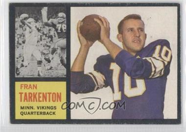 1962 Topps #90 - Fran Tarkenton SP RC (Rookie Card) - Courtesy of CheckOutMyCards.com