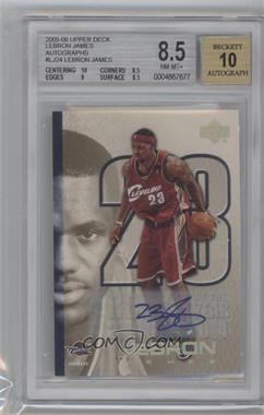 2005-06 Upper Deck LeBron James Autographs #LJ24 - LeBron James/1 BGS GRADED 8.5 - Courtesy of CheckOutMyCards.com