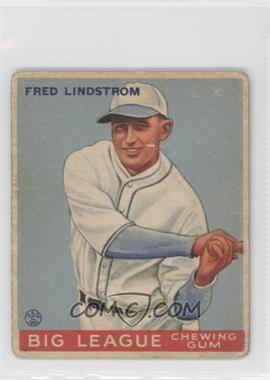 1933 Goudey #133 - Fred Lindstrom RC (Rookie Card) - Courtesy of CheckOutMyCards.com
